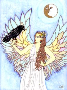 christine-jolly-christinejolly-art-paris-artiste-peintre-dessin-spiritualité-Eclipse sous la neige