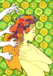 christine-jolly-christinejolly-art-paris-artiste-peintre-dessin-spiritualité-Nul ne peut altérer ton diamant intérieur (2021)