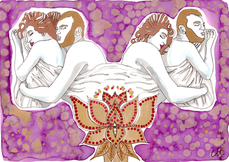 christine-jolly-christinejolly-art-paris-artiste-peintre-dessin-spiritualité-Réveil en douceur (2020)