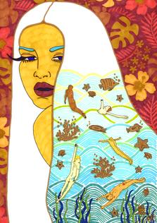 christine-jolly-christinejolly-art-paris-artiste-peintre-dessin-spiritualité-Je regarde votre danse