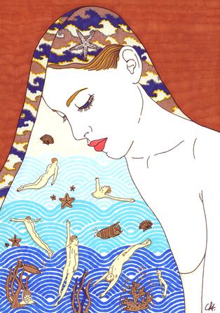 christine-jolly-christinejolly-art-paris-artiste-peintre-dessin-spiritualité-je ne sais pas nager avec vous