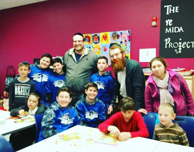 Thank you to the boys from the BCL who joined us today at the CJE and had fun doing Pesach crafts wi