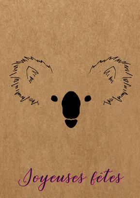 carte de voeux koala