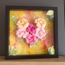 cadre fleuri origami