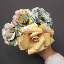 bouquet origami globe trotteur