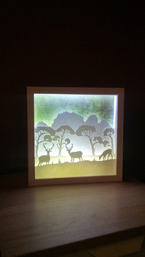 cadre vitrine décoratif en papier découpé.