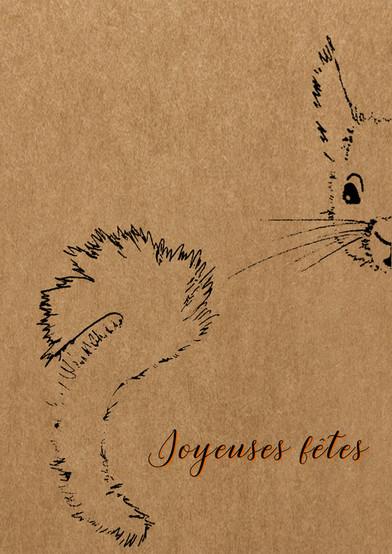 carte de voeux écureuil