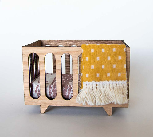 Nursery Crib with Linens