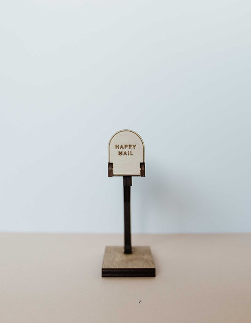 """HAPPY MAIL"" Mailbox with stand"