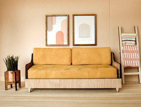 Mid Century Sofa in Desert Sun