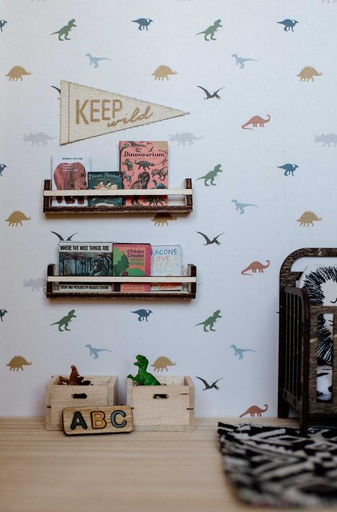 Book Shelves with DIY Books