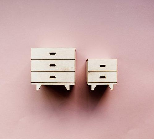 Dresser and Nightstand Set in Birch