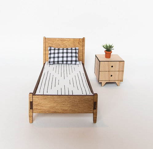 Elm bed with Mattress