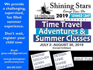 Summer Camp July 2nd - August 30th 2019