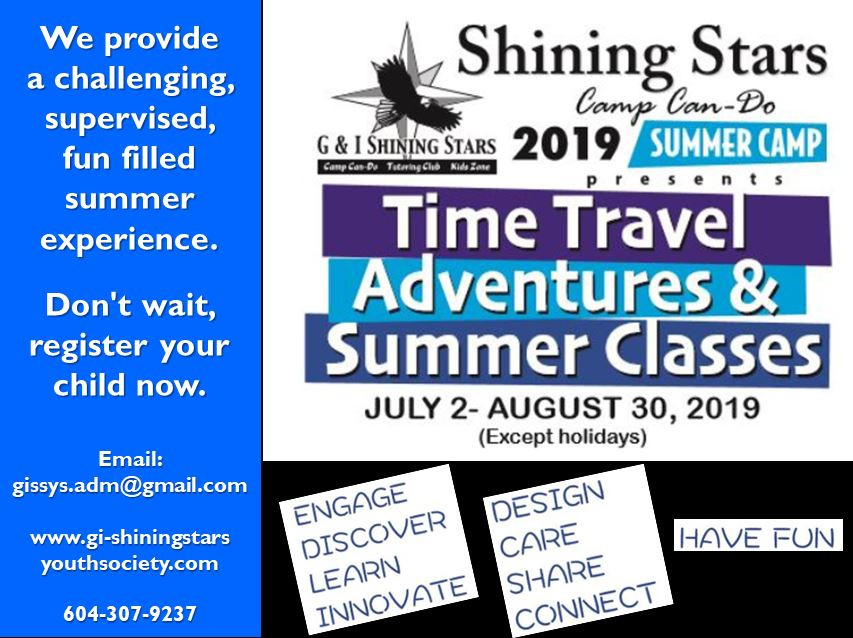 Summer Camp July 2nd - August 30th 2019 SHINING STARS CAMP CAN-DO and Ward Memorial  Baptist Church are proud to present:      SHINING STARS CAMP CAN-DO & SUMMER CLASSES 2019. We provide a challenging, supervised, fun filled summer experience.  Don't wait, register your child now.