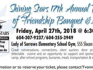 Shining Stars 17th Annual Bridges of Friendship Banquet & Silent Auction