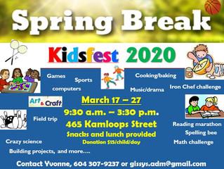 Spring Break, March 17 - 27