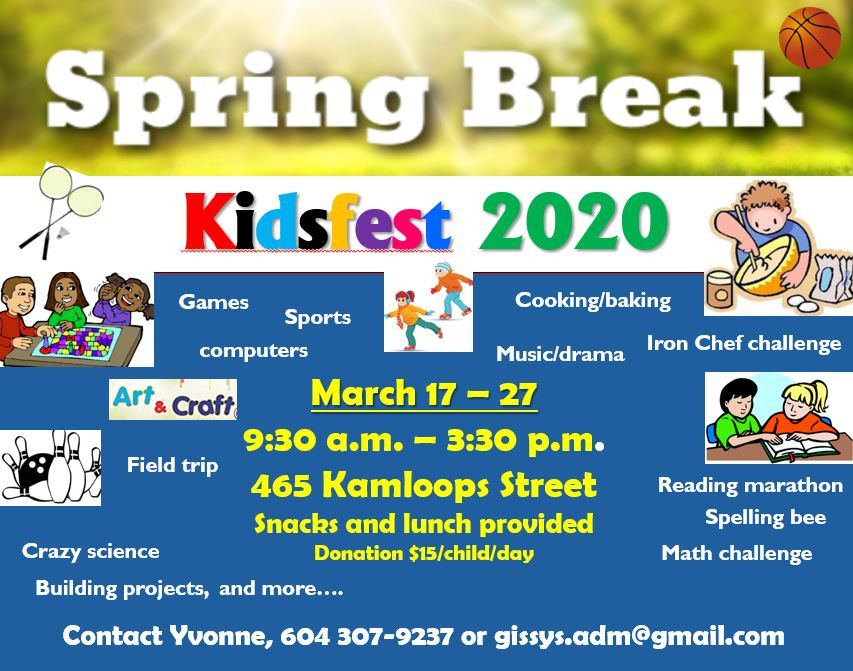 SPRING BREAK March 17 - 27 2020