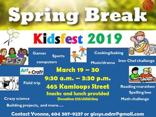 2019 Spring Break Kidsfest