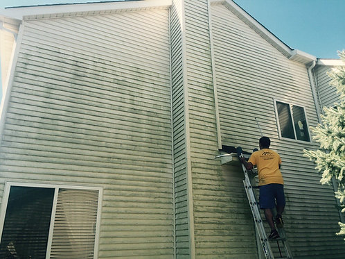 Home Exterior Pressure Washing for a home up to 3,000 living sqf