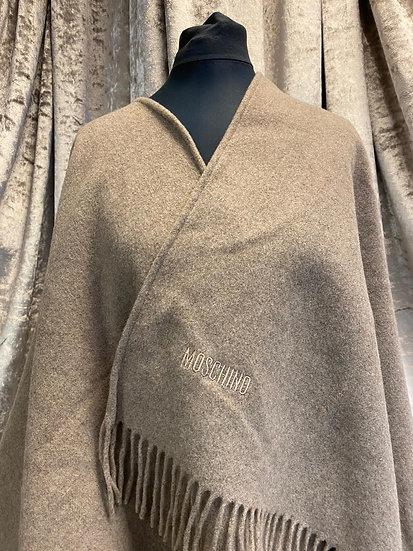 Moschino oatmeal shawl