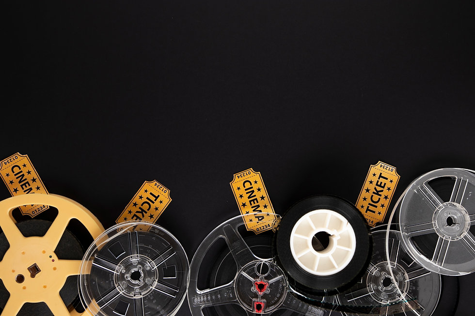 movie-elements-on-black-background-with-