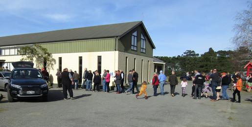 Registration queue begins