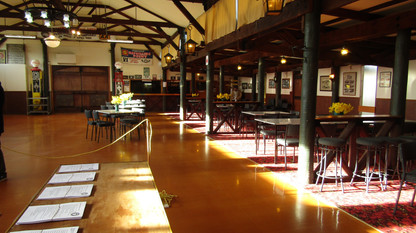 The main hall ready for Registrations and Devonshire Teas