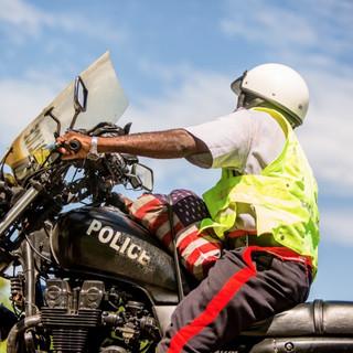Bicycle Tour Police Escort