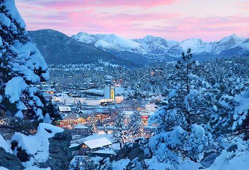 Estes Park Colorado winter time