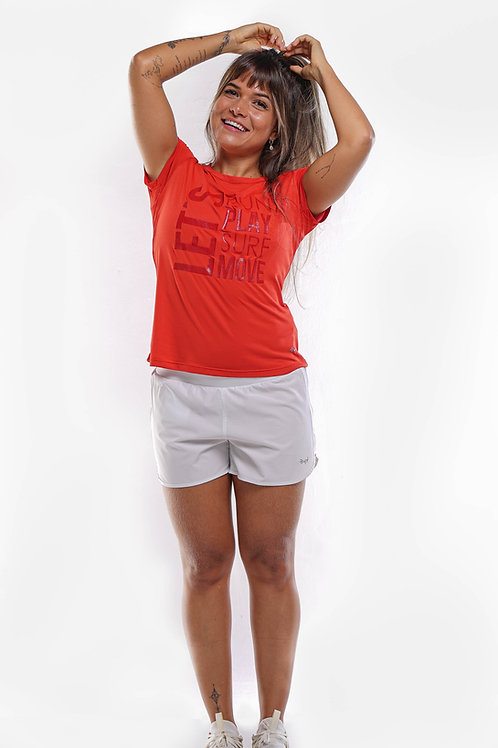 T-Shirt Let's Move Feminina