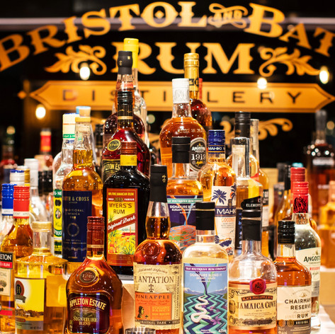 150 different rums on our mezzanine bar