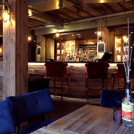 The Mezzanine bar at the distillery