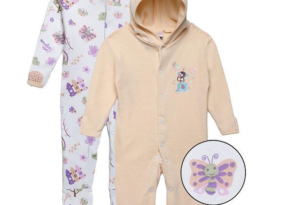 Baby Hooded Sleep suit | Skin | WonderME