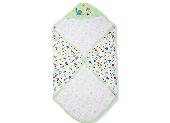 Single Layer Baby Towel | Green Meadow