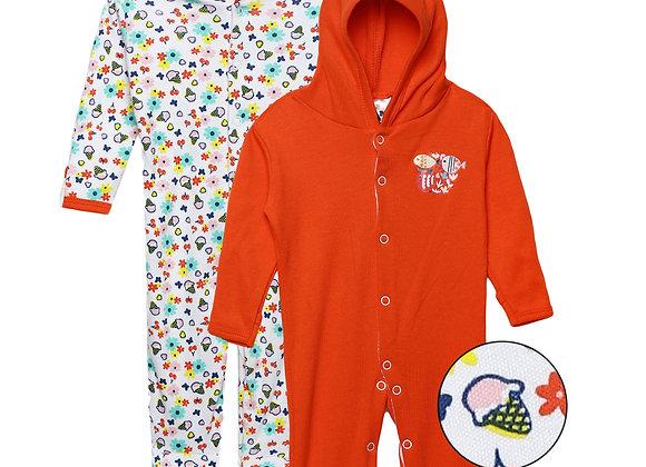 Baby Hooded Sleep suit | Red Cherry