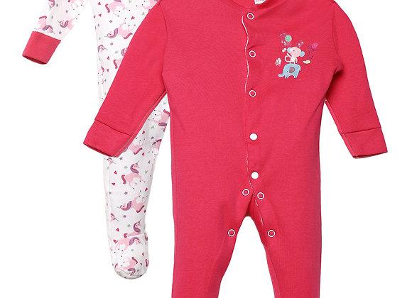 Baby Full suit | Dark Pink