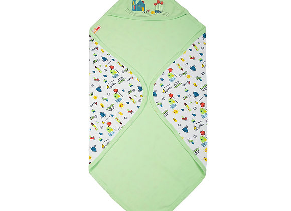 Double Layer Baby Towel | Green Meadow