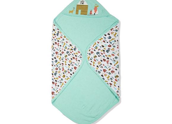 Double Layer Baby Towel | Aqua