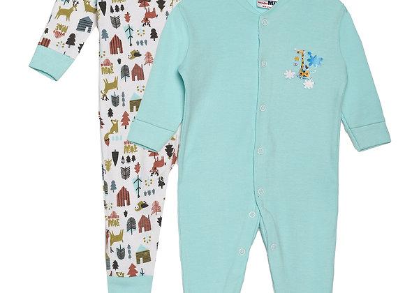 Baby Sleep suit   Aqua   WonderME