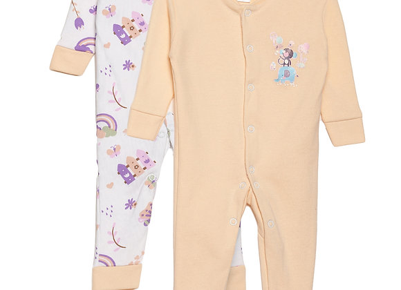 Baby Sleep suit | Orange | WonderME