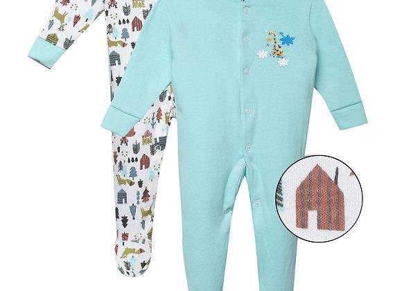 Baby Full suit | Aqua | WonderME