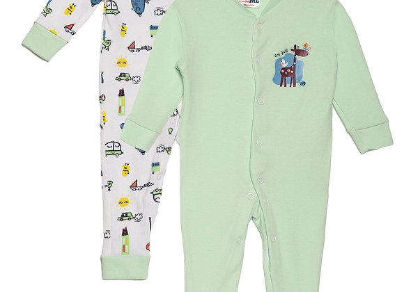 Baby Sleep suit | Green Meadow