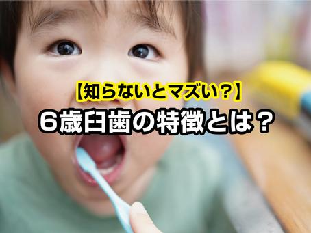 【知らないとマズい?】6歳臼歯の特徴とは?