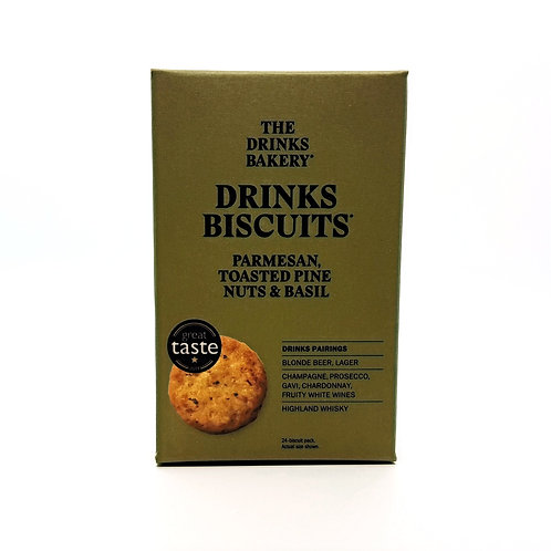THE DRINKS BAKERY - Drinks Biscuits Parmesan, Toasted Pine Nuts & Basil