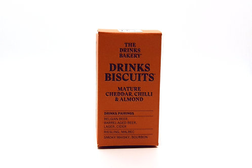 THE DRINKS BAKERY - Drinks Biscuits Mature Cheddar, Chilli & Almond