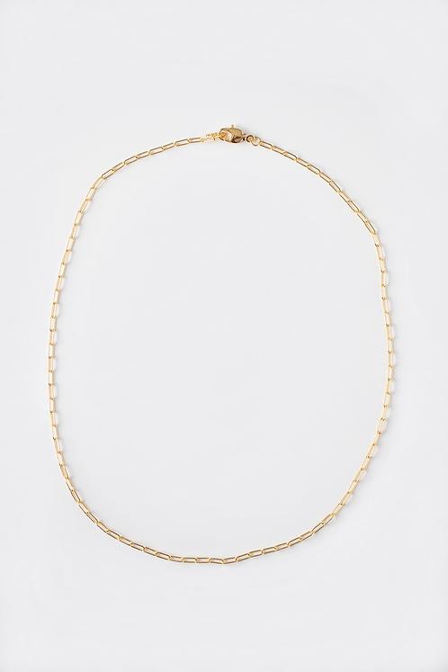 Mini Paperclip Chain Necklace