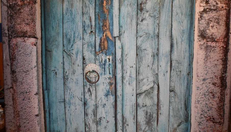 Blue Rustic Doors