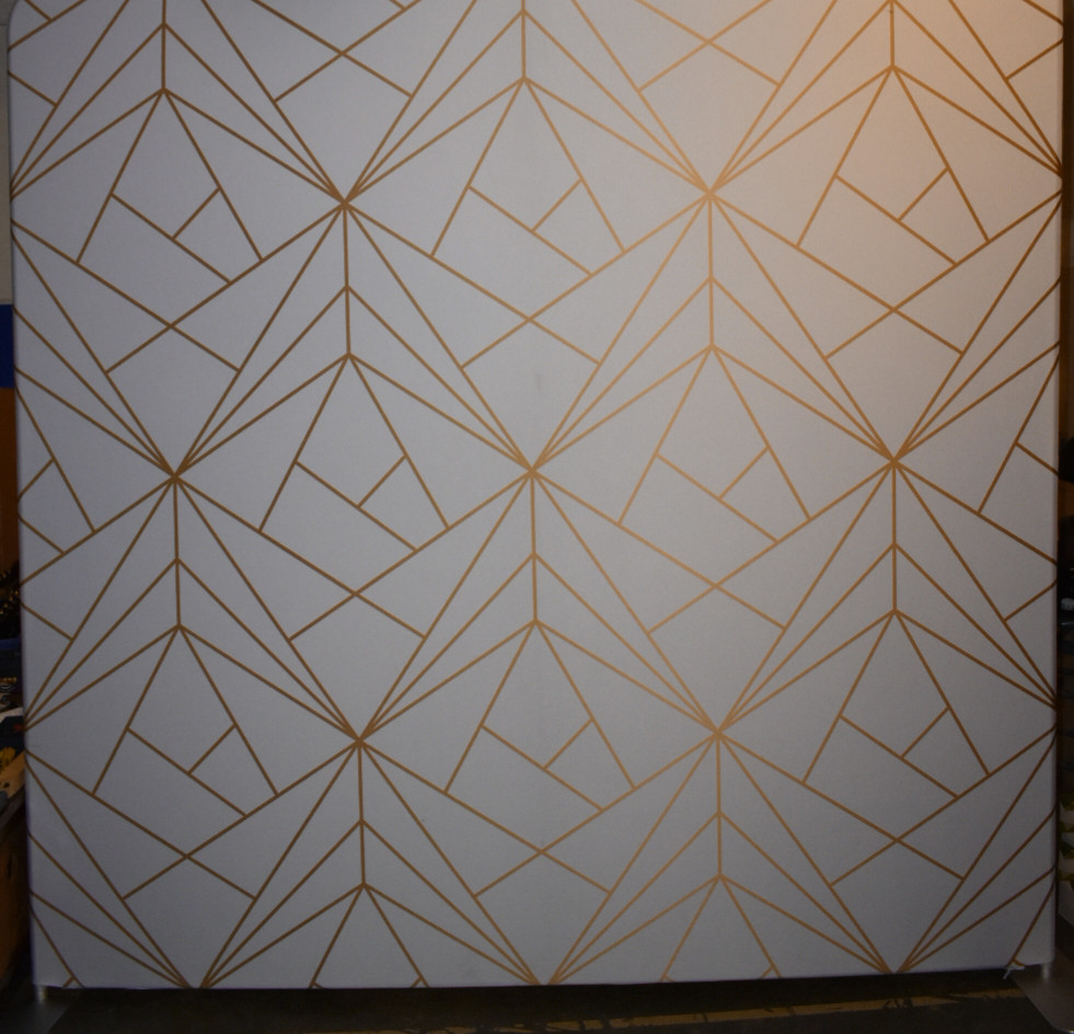 White and Gold Geometric