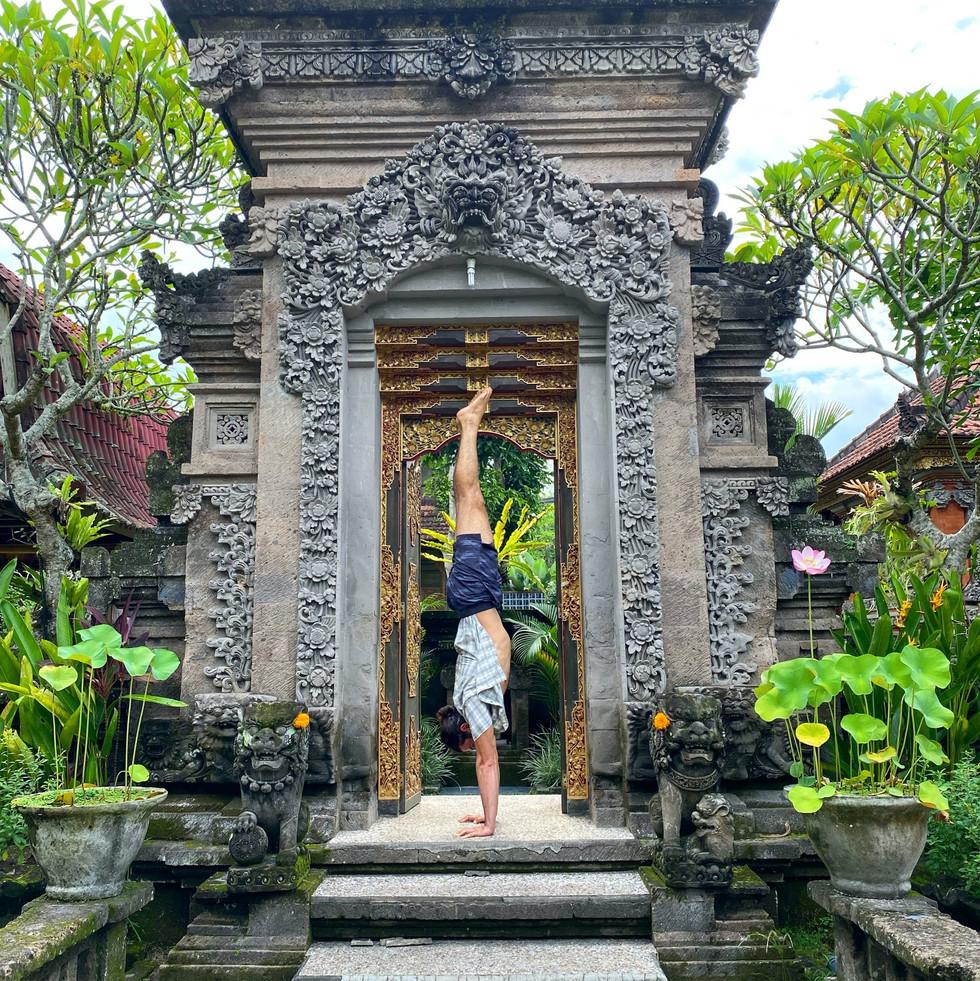 Handstand in Bali